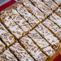 Cranberry and white chocolate muesli bars
