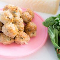 Paremesan chicken basil baked meatballs