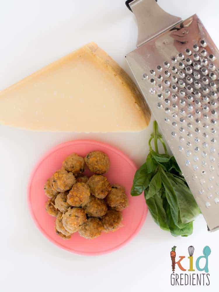 parmesan chicken basil baked meatballs