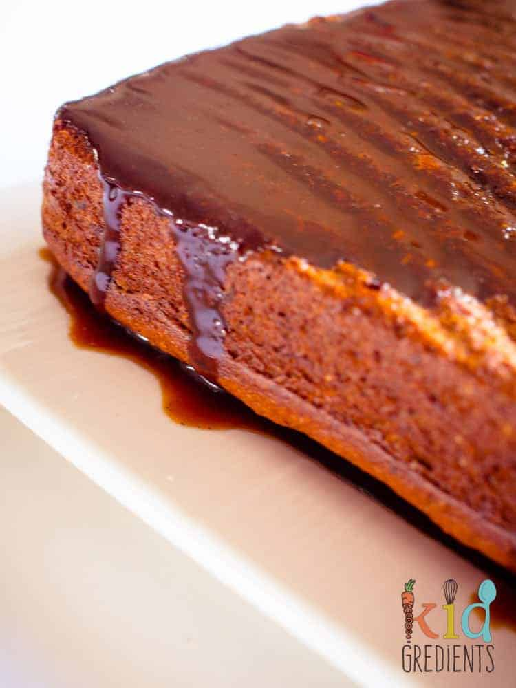 sticky date cake with caramel syrup
