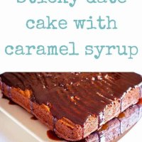 Sticky date cake with caramel syrup that is sure to please. The ideal dessert recipe for a special treat or as an afternoon tea. Kid friendly.