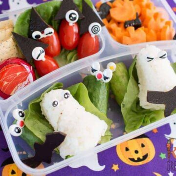 Spooky halloween bento lunch idea