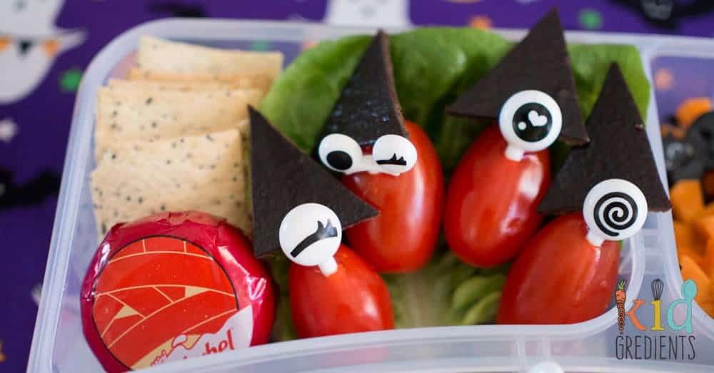 Spooky halloween bento lunch idea