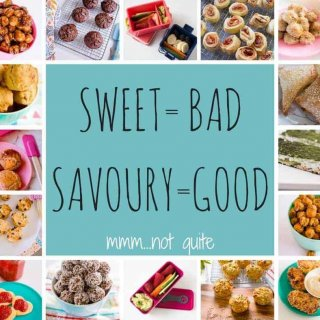 sweet=bad savoury =good