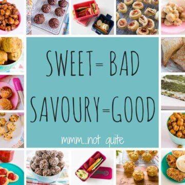 Sweet = bad. Savoury = good.