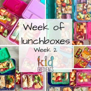 week of lunchboxes week 2