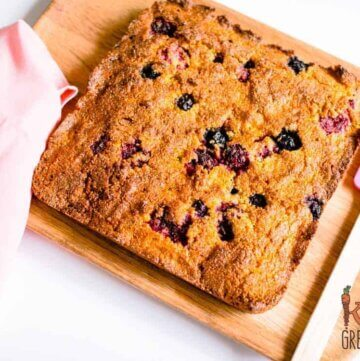 Berry polenta slice low sugar, gluten free