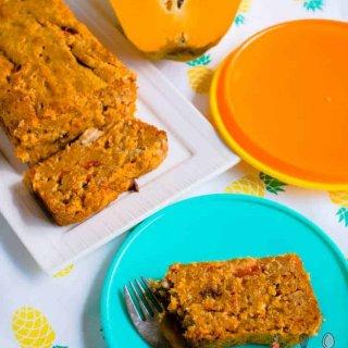 tropical papaya and banana bread