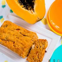 tropical papaya and banana bread