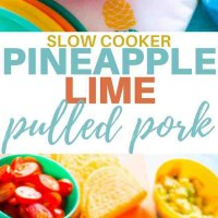 Pineapple and lime slow cooker pulled pork. Delicious in tacos, tortillas, wraps and even on pizza! Slow cooker perfection! #kidsfood #tacos #pulledpork #slowcooker #freezer #familyfoods