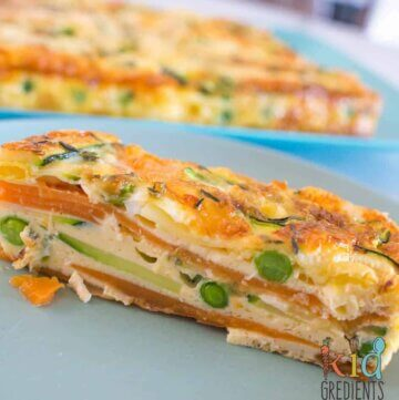 Sweet potato and zucchini healthy strata bake