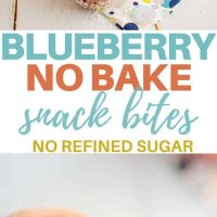 Blueberry no bake snack bites, easy dairy free recipe, perfect for snacks, lunchboxes and even for a yummy breakfast snack! #kidsfood #norefinedsugar #snacks #nobake #blueberries #dairyfree #lunchbox