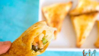 Veggie and rice pasties