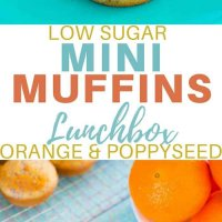 These orange and poppyseed mini cakes with hidden chia are fab in the lunchbox and easy to make. The recipe makes a whopping 36 mini cakes or 12 large and 12 mini. Super kid friendly.