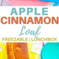 This apple cinnamon loaf is perfect in the lunchbox and goes in the freezer too! Easy to bake recipe that is so yummy! #appleandcinnamon #loaf #lunchbox #recipe #kidsfood