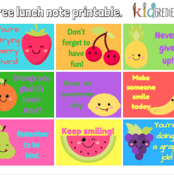 free lunch not printable, perfect for a non sugary treat in the lunchbox. Make lunches more fun!