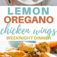 Eat dinner with your fingers tonight with this delicious recipe for lemon and oregano baked chicken wings. A favourite with the kids these chicken wings will become a family staple! #kidsfood #familydinner #familyfood #chicken #chickenwings