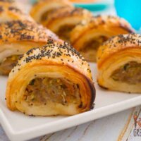 Pork, apple and veggie sausage rolls