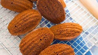 Low sugar chocolate madeleines