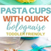 Spaghetti nests with quick bolognaise- the best way to serve pasta with bolognaise sauce to toddlers! Easy to make and quick! Sauce filled with veggies. #toddlerfood #kidsfood #spaghetti #healthykidsfood #partyfood