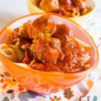 cheesy chicken meatballs with cherry tomato pasta sauce