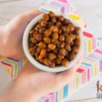 Maple vanilla roasted chickpeas, only 4 ingredients!