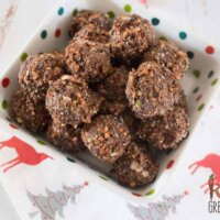 choco crunch bliss balls, dairy and gluten free