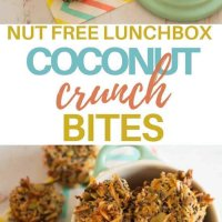 These are gluten free, nut free, are easily made dairy free and are perfect as a crunch element for the lunchbox!