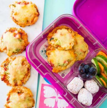 Brown rice mini pizzas, gluten free, freezer friendly