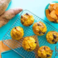 sweet potato choc chip muffins
