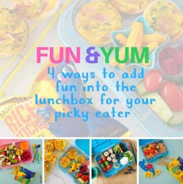 Fun and yum – four ways to add fun into the lunchbox for your picky eater