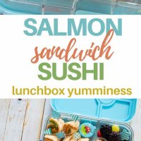 Yummy and easy to make, this salmon sandwich sushi, made with Tassal smoked salmon is perfect for getting extra Omega-3s into the lunchbox!