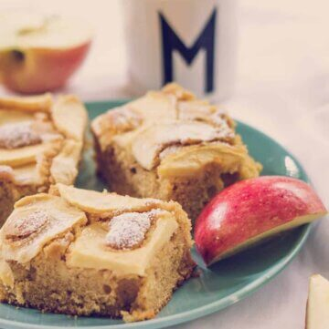 Brown sugar apple slice -a kid favourite for afternoon tea