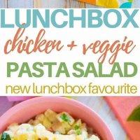 chicken and veggie lunchbox pasta salad