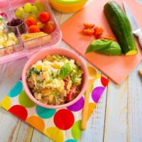 Chicken and veggie lunchbox pasta salad