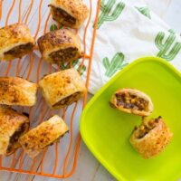 mexican beef sausage rolls