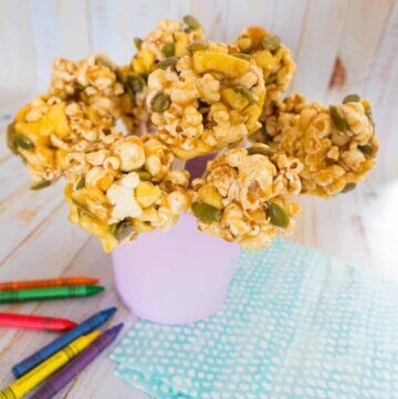 Toffee apple popcorn balls – gluten free and super yummy!