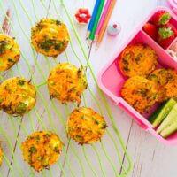 Sweet potato, broccoli and carrot tortilla quiches