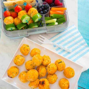 Salmon and veggie balls, kid friendly and lunchbox perfect!