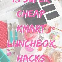super cheap Kmart lunchbox hacks