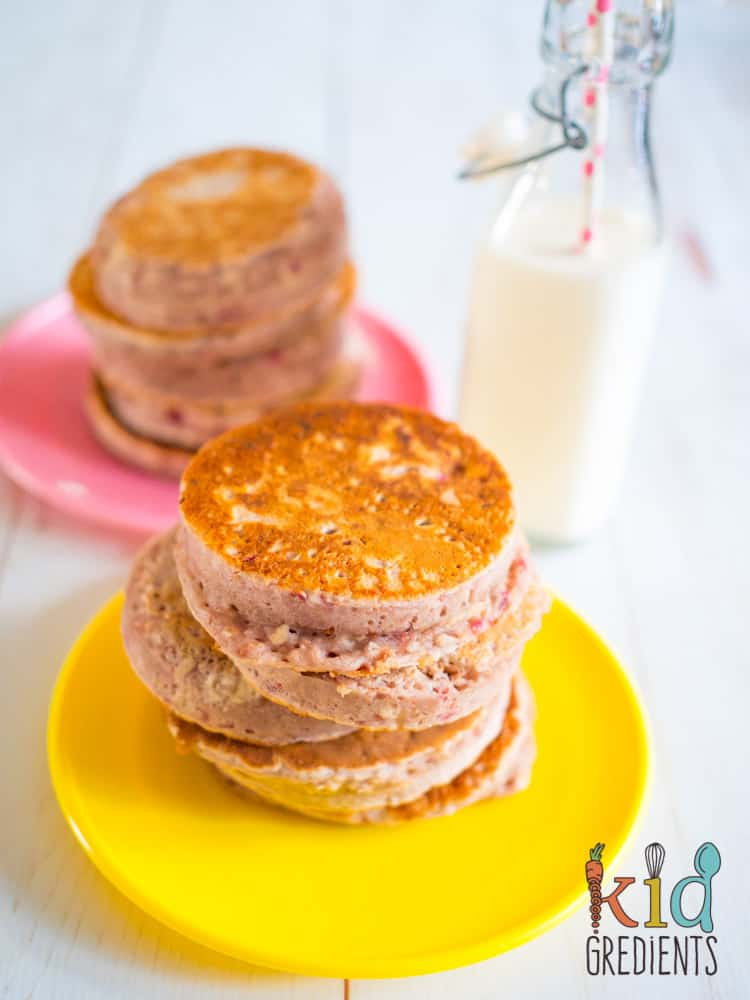 raspberry porridge pikelets