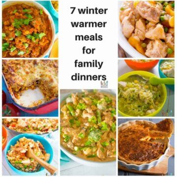 These 7 winter warmer meals for family dinners help to warm you up at dinner time...and make enough and there's leftovers for lunch!