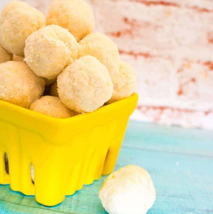 lemon coconut bliss balls
