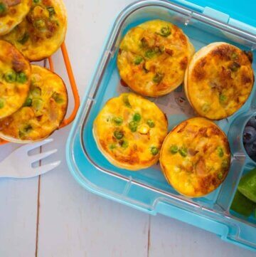 tuna and veggie mini quiches