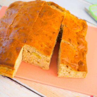 No added sugar lunchbox banana cake