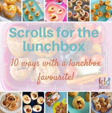 scrolls for the lunchbox, ten ways with a lunchbox favourite