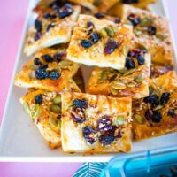 Nut free trail mix pastry snacks