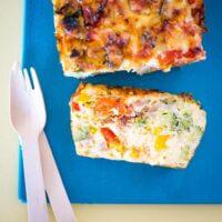 Rainbow veggie slice