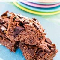 fudgey double choc zucchini brownies