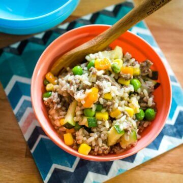 savoury mince with brown rice